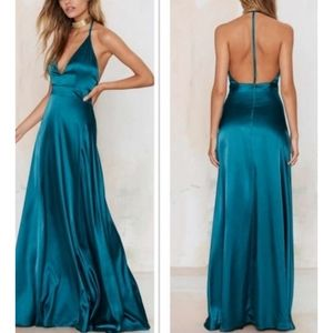 Satiny maxi dress